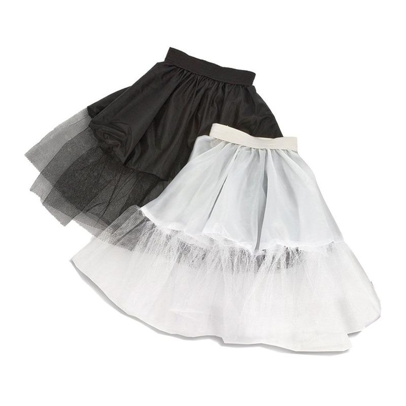 Verkleed Witte kinder petticoat met tule