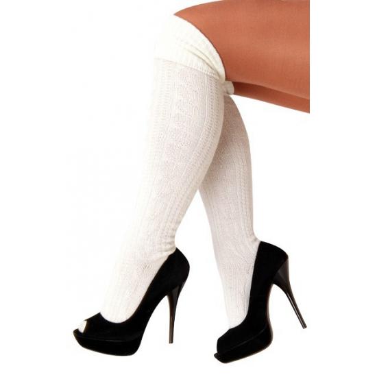 Verkleed Witte Tiroler kousen voor dames