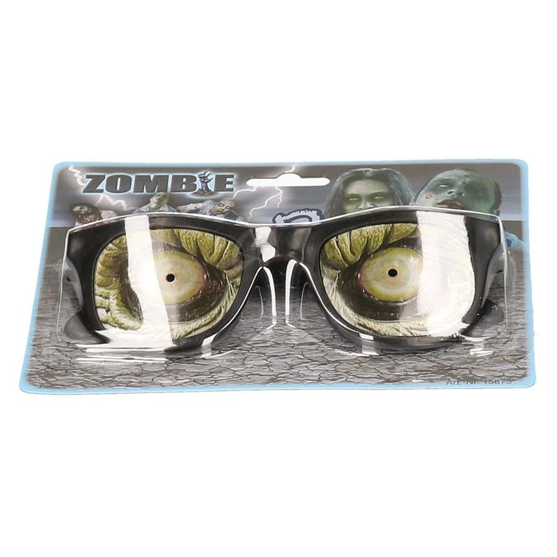 Verkleed Zombie ogen bril voor volwassenen
