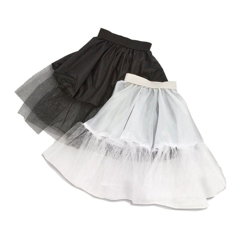 Verkleed Zwarte kinder petticoat met tule