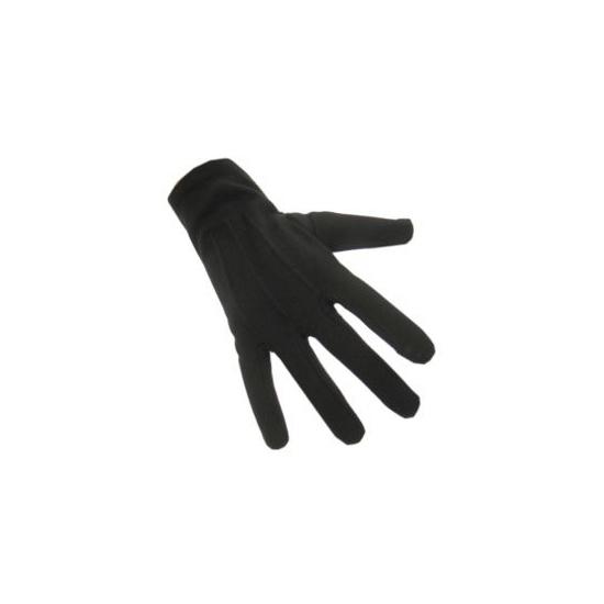 Verkleed Zwarte korte handschoenen