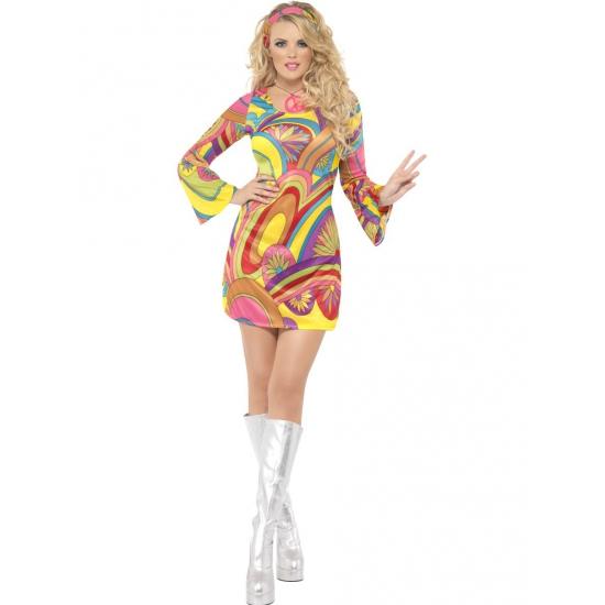 Verkleedkleding 60s power flower dames kostuum