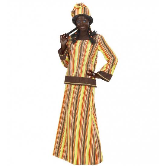 Verkleedkleding Afrikaanse dame kostuum