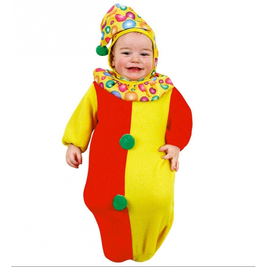 Verkleedkleding Baby trappelzak clown