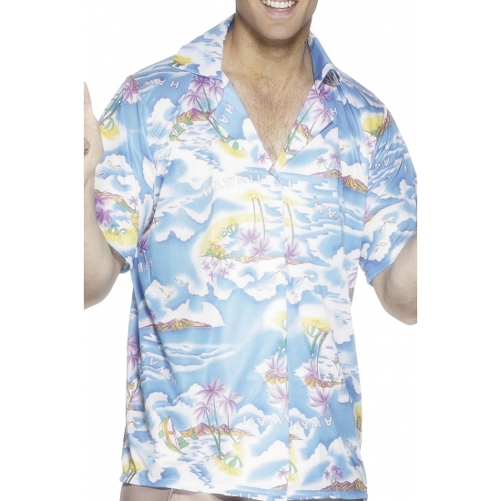 Verkleedkleding Blauw hawaii shirt