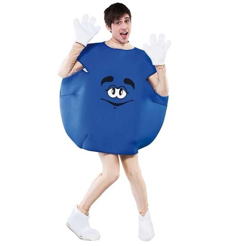 Verkleedkleding Blauw snoep kostuum