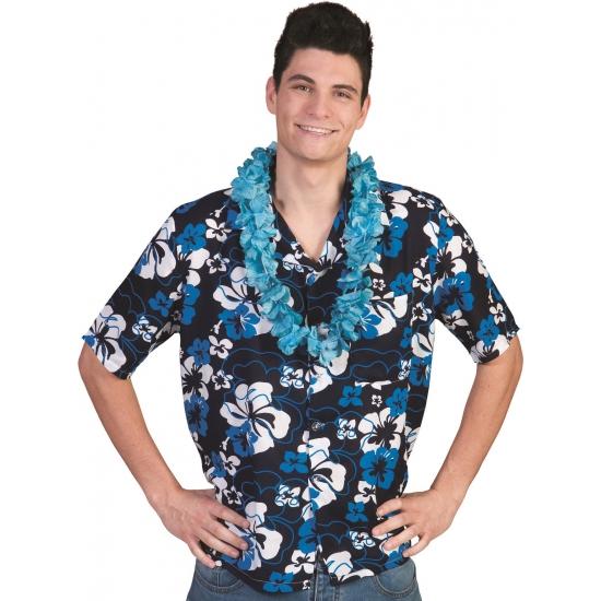Verkleedkleding Blauwe Hawaii blouse Honolulu