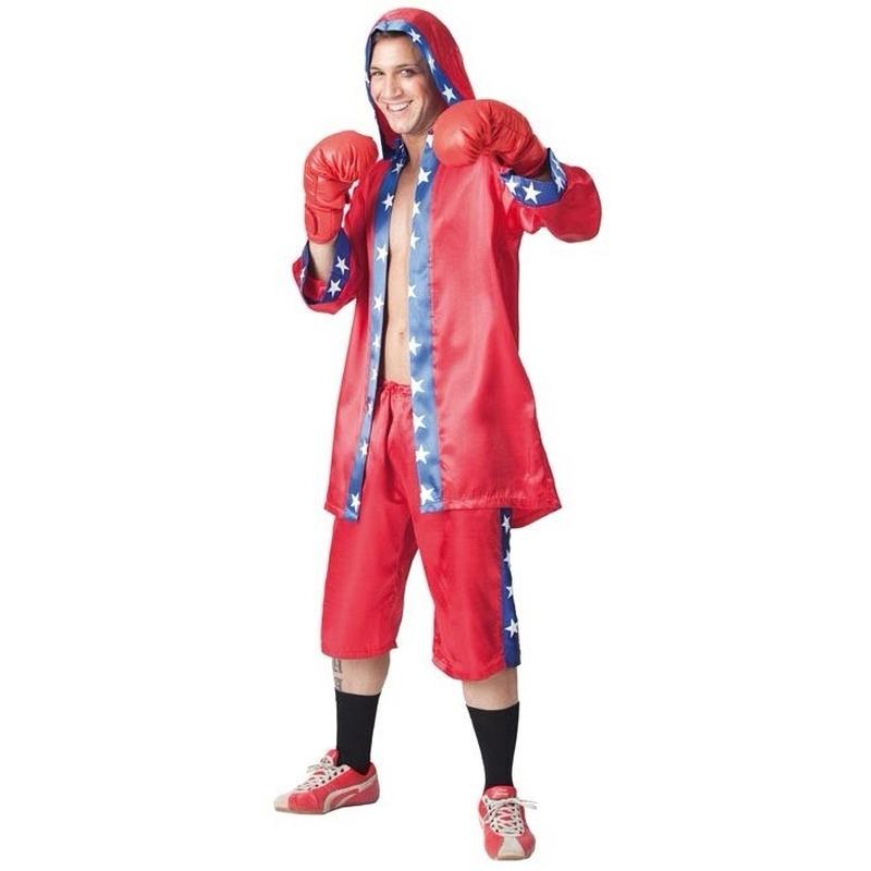 Verkleedkleding Bokser outfit voor heren