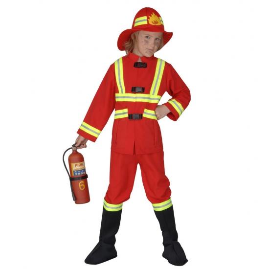 Verkleedkleding Brandweer kostuum kids rood