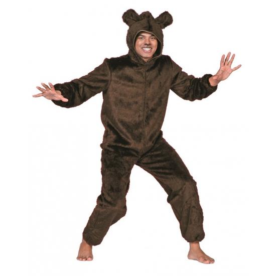 Verkleedkleding Bruine beren pak voor volwassenen