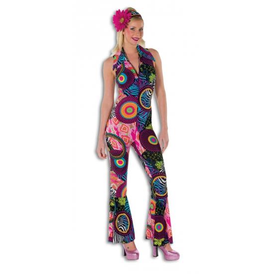 Verkleedkleding Dames disco jumpsuit