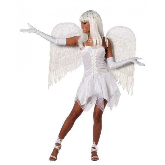 Verkleedkleding Feest jurkje wit voor dames