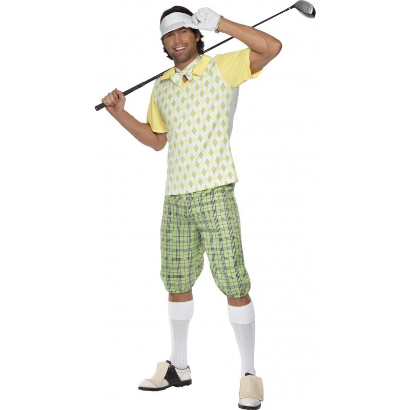 Verkleedkleding Fun kostuum golfer