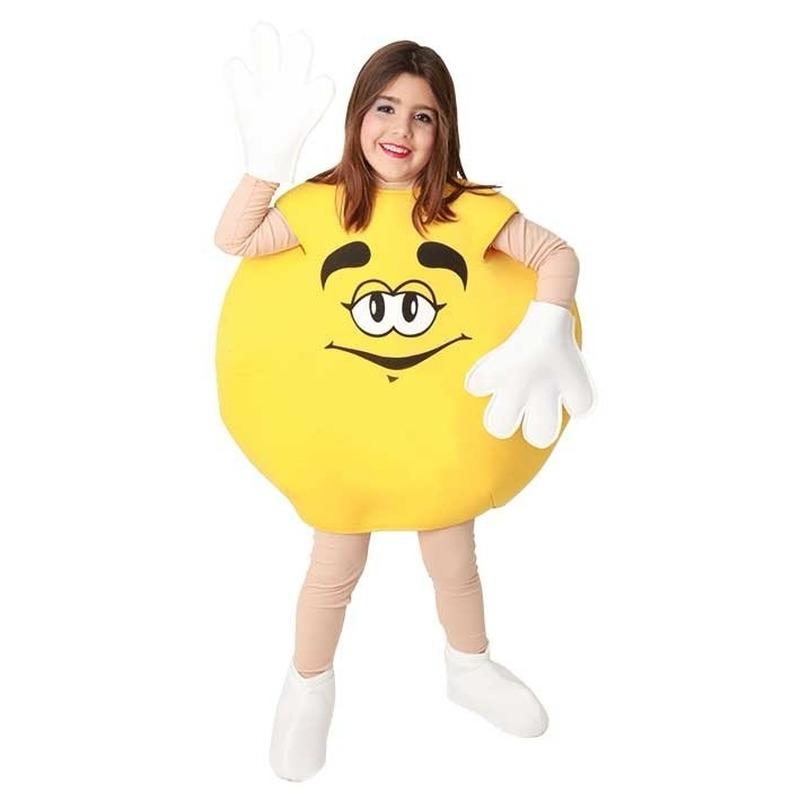 Verkleedkleding Geel snoep kostuum voor kinderen