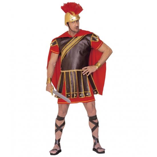 Verkleedkleding Gladiator kostuum rood-bruin heren