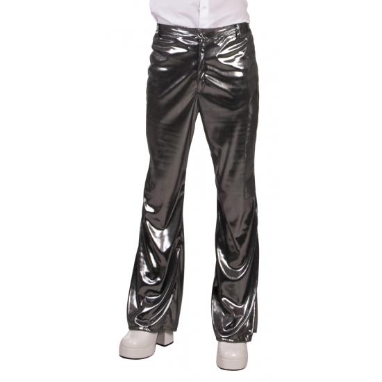 Verkleedkleding Glimmende zilveren disco broek