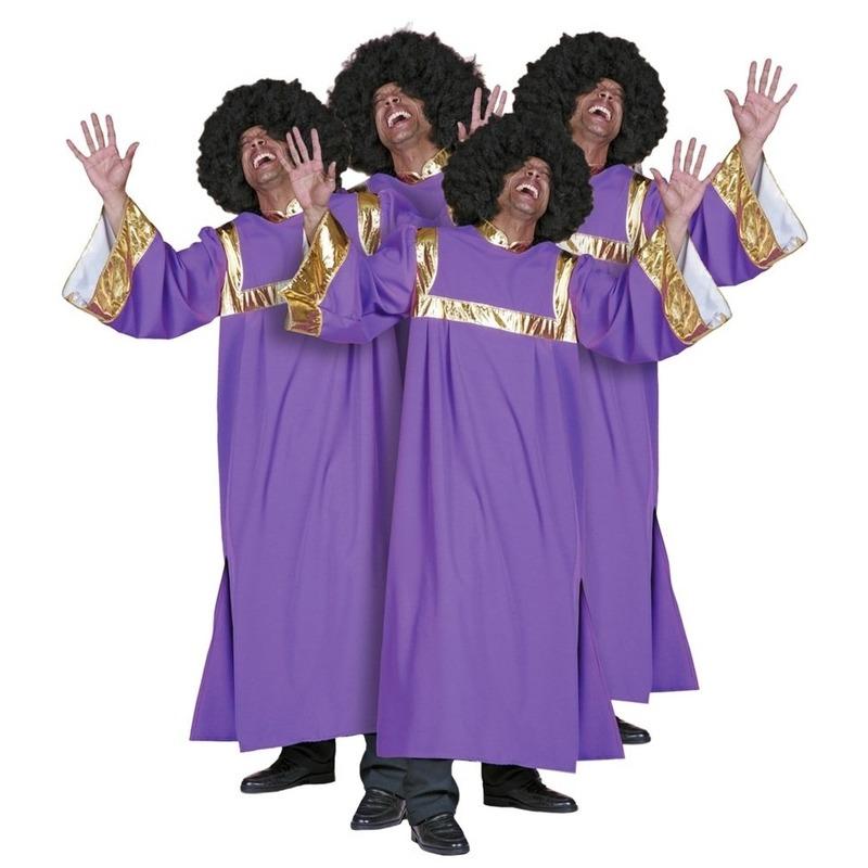 Verkleedkleding Gospel zanger kostuum heren