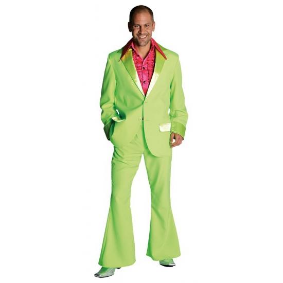 Verkleedkleding Groen jaren 70 kostuum voor heren