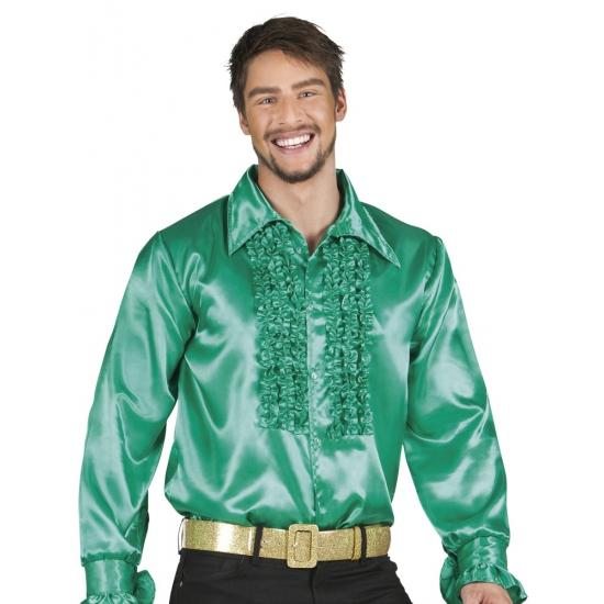 Verkleedkleding groen rouche overhemd