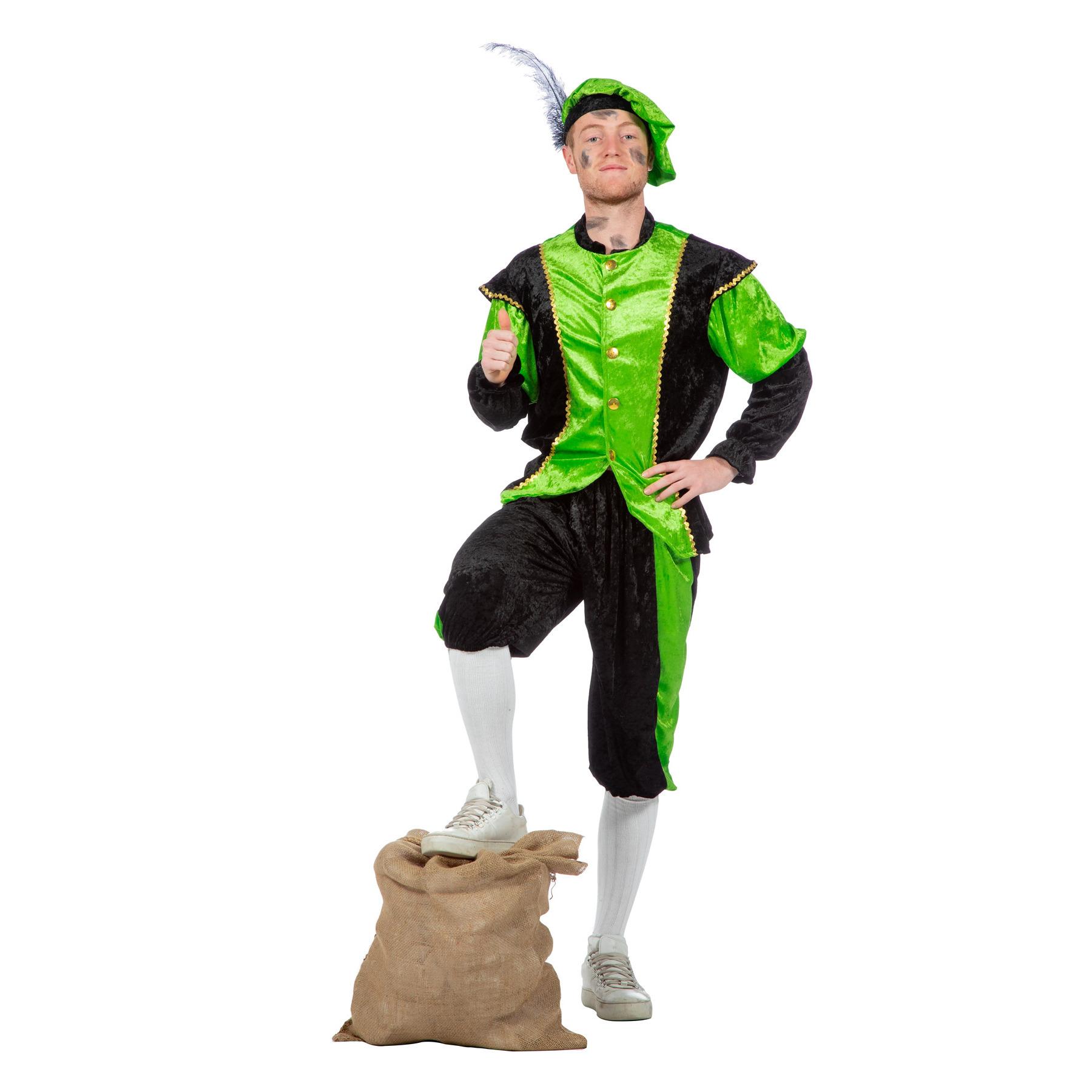 Merkloos Verkleedkleding Groene pieten kostuum budget
