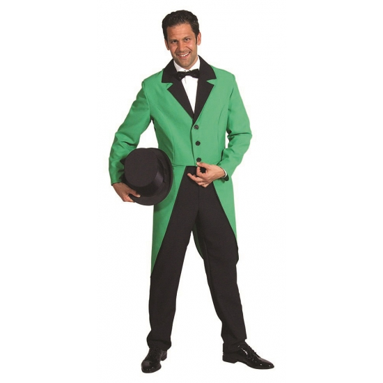 Verkleedkleding Groene slipjas voor heren