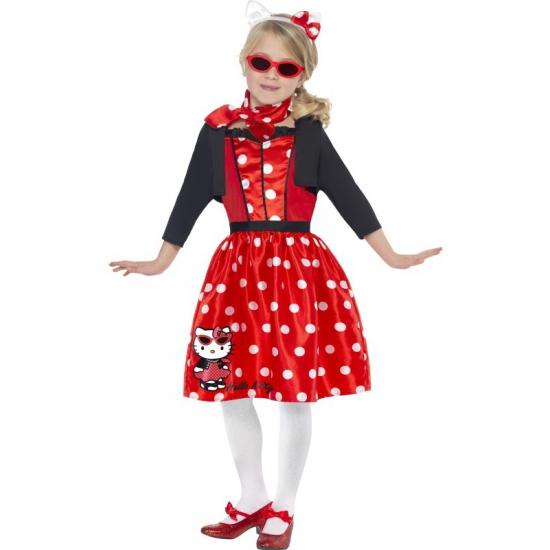 Verkleedkleding Hello Kitty retro jurkje