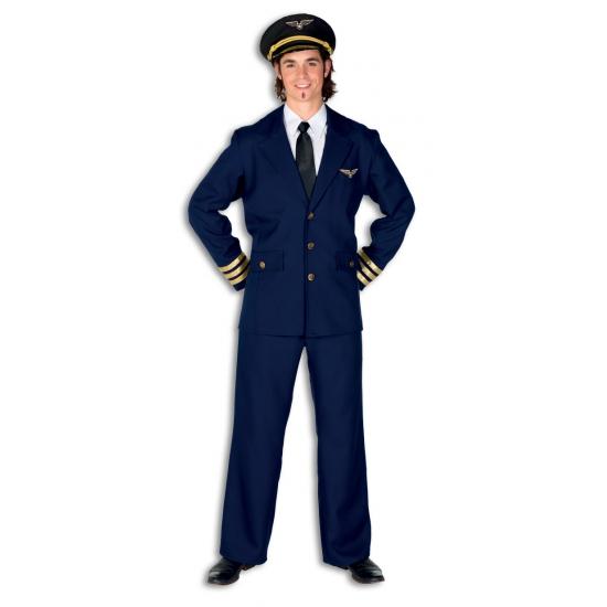 Verkleedkleding Heren piloten kostuum