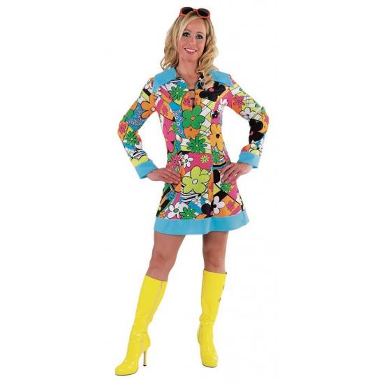 Verkleedkleding Hippie bloemen jurk dames