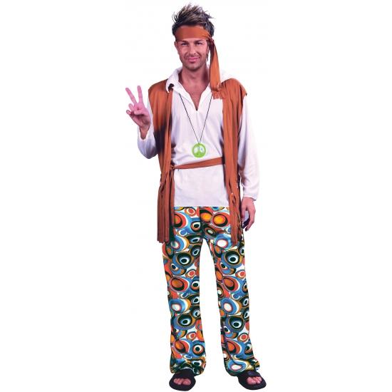 Verkleedkleding Hippie peace kostuum voor heren