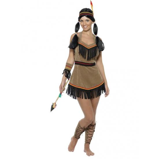 Verkleedkleding Indianen jurk voor dames