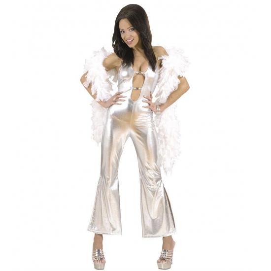 Verkleedkleding Jumpsuit dames zilver