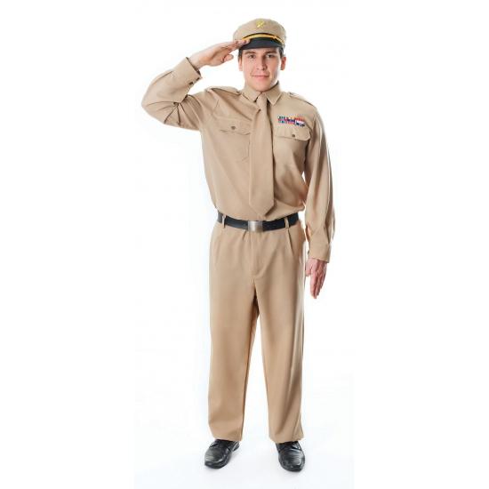 Verkleedkleding Kaki officier kostuum