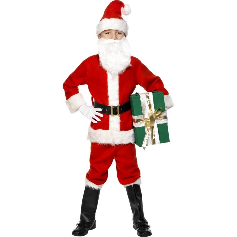 Verkleedkleding Kinder kerstman kostuum luxe