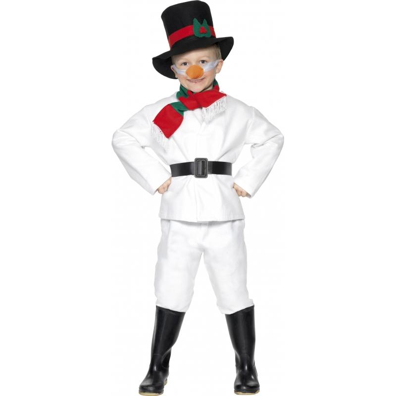 Verkleedkleding Kinder sneeuwman kostuum wit