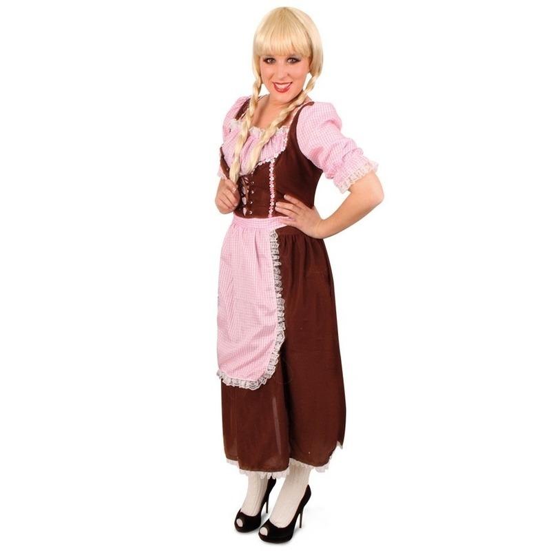 Verkleedkleding Klassieke Tirolerjurk Rosa