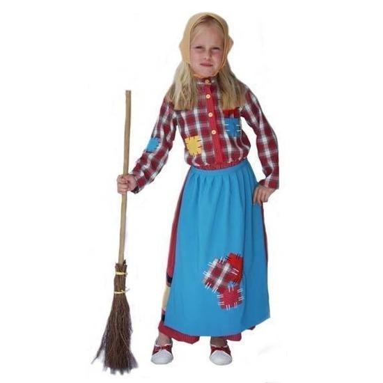 Verkleedkleding Kleurrijke heksen kostuum voor kinderen