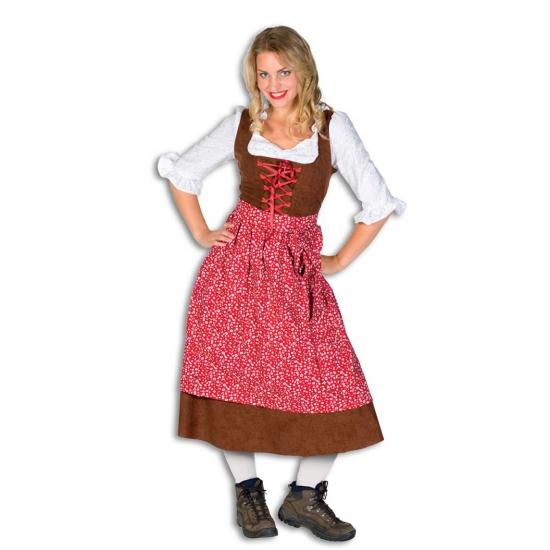 Verkleedkleding Lange tiroler jurk