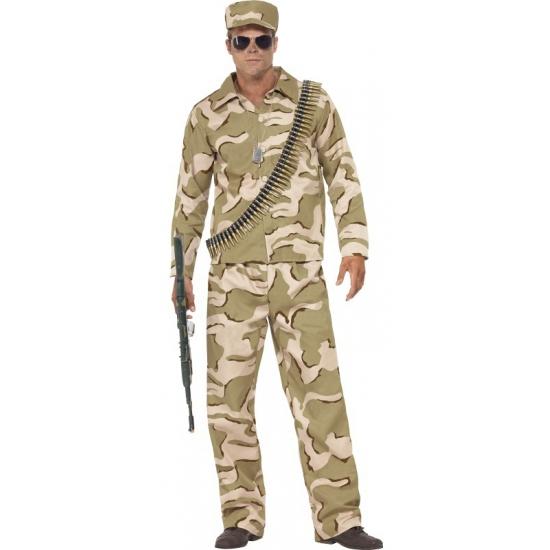 Verkleedkleding leger kostuum voor heren