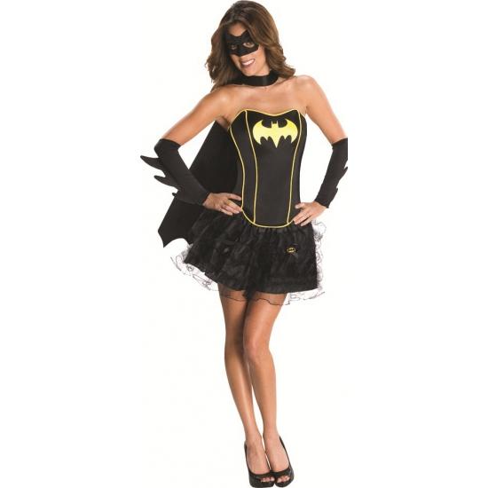 Verkleedkleding luxe batgirl korset voor dames