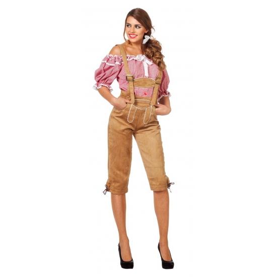 Verkleedkleding Luxe dames lederhose