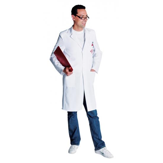 Verkleedkleding Luxe dokters jas voor heren