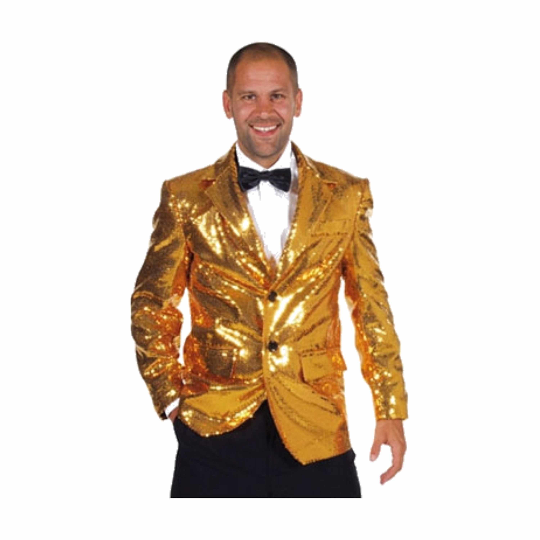 Verkleedkleding Luxe gouden colbert