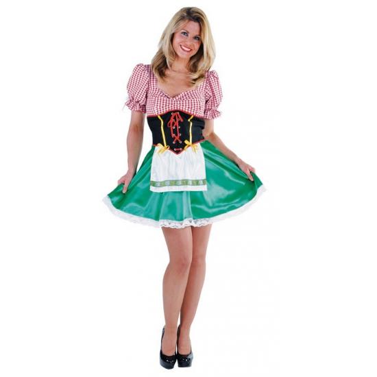 Verkleedkleding Luxe Heidi jurkje dames