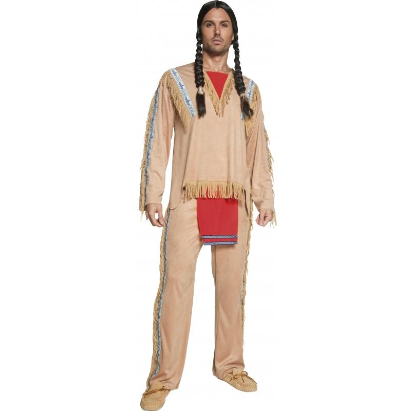 Verkleedkleding Luxe indianen kostuum heren