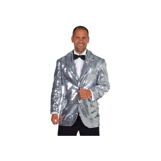 Verkleedkleding Luxe zilver colbert