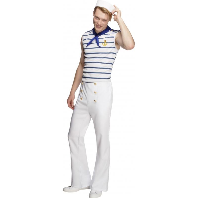 Verkleedkleding Matroos kostuum voor heren