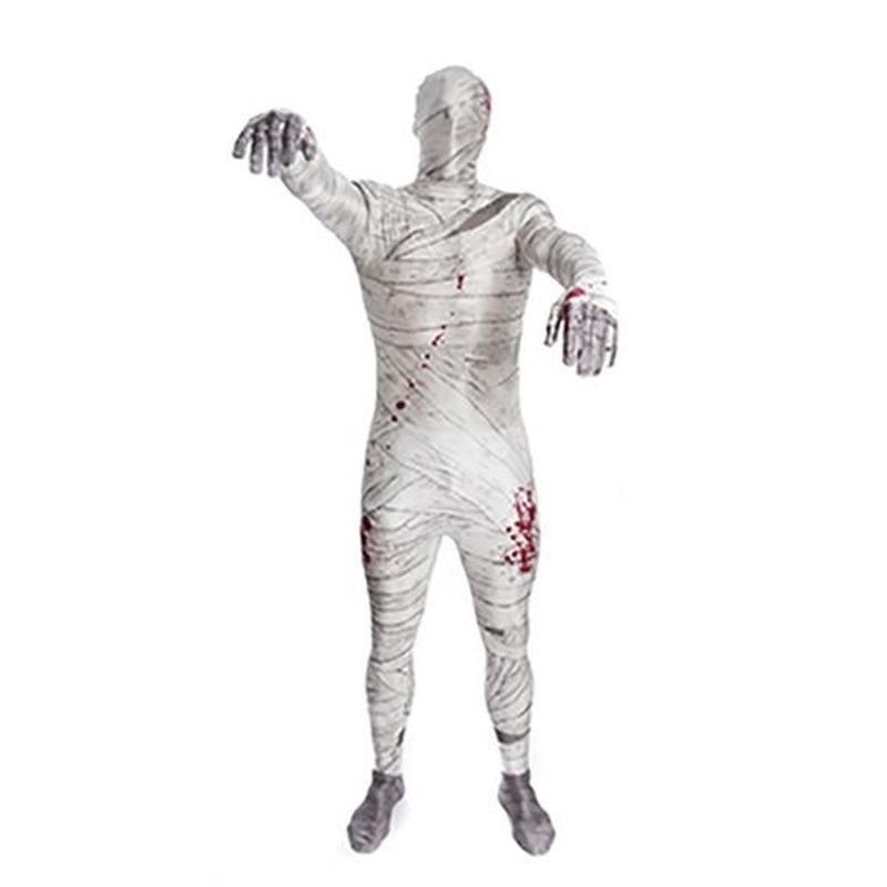Verkleedkleding mummie morphsuit pak