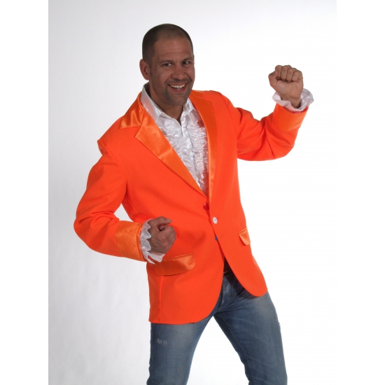 Verkleedkleding Oranje colbert voor heren