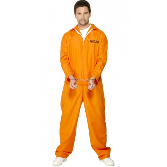 Verkleedkleding Oranje gevangenen kostuum