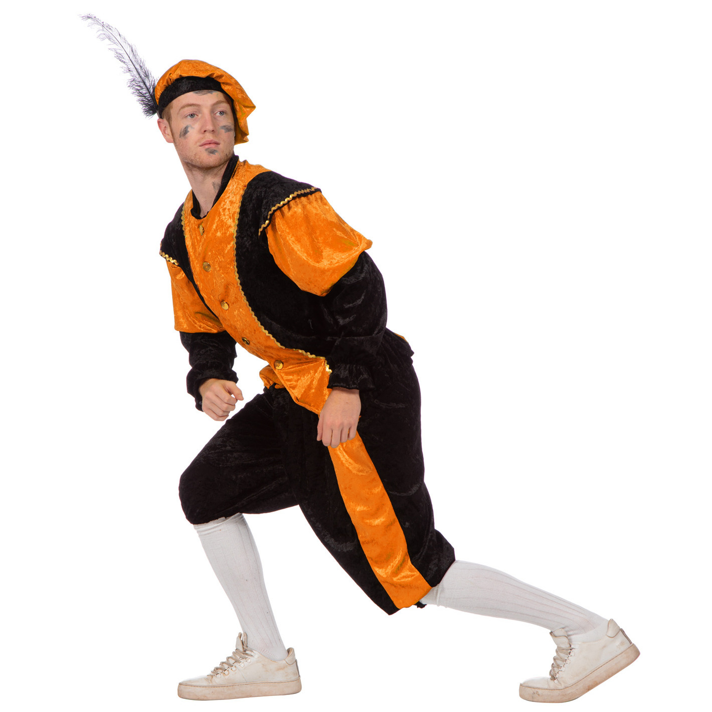 Merkloos Verkleedkleding Oranje pieten kostuum budget